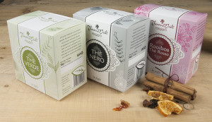 An original packaging for a quality tea
