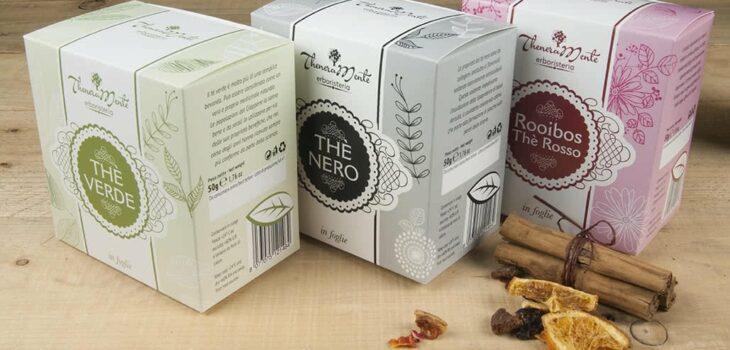 Packaging per tè