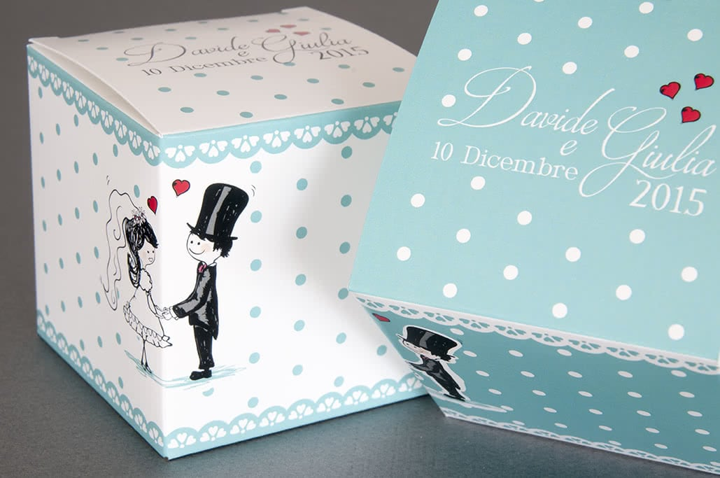 Packaging scatole per matrimoni