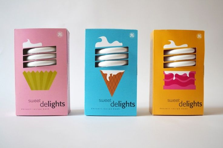 packaging per lampadine delights