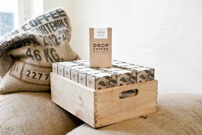 Drop coffee packaging