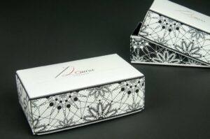 Scatola per accessori fashion: packaging ed eleganza