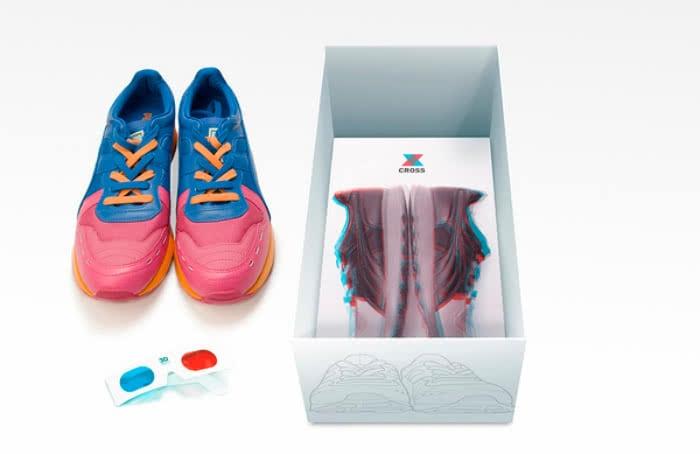 cross 3d sneaker packaging