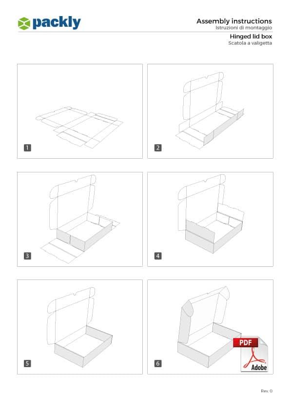 A4 montaggio scatola a valigetta