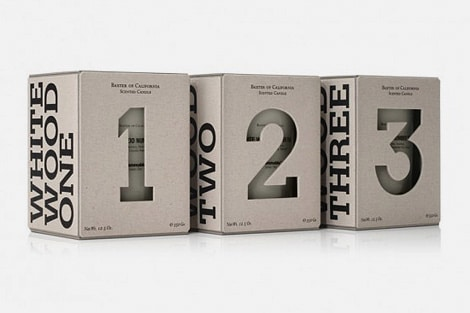 packaging numerati candele