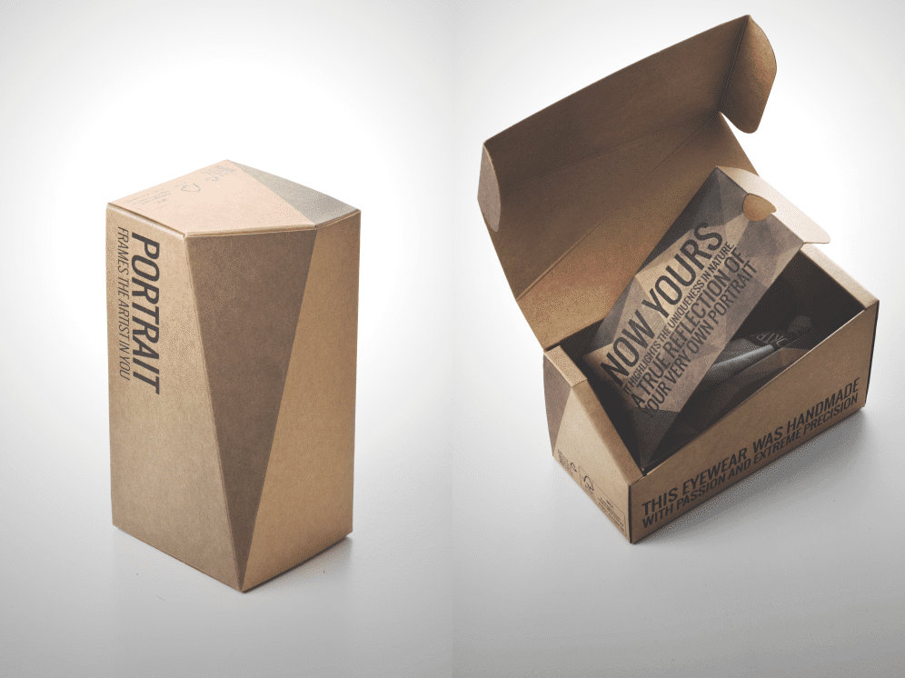 packaging per occhiali