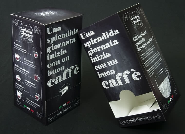 coffee pods boxes