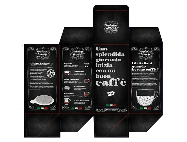 coffee pods die-cut template