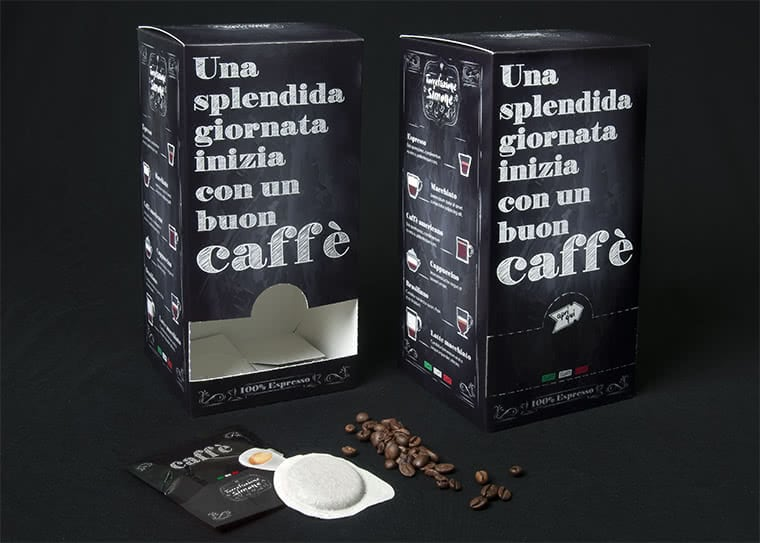 scatola dispenser cialde caffe