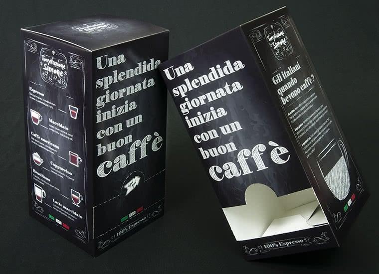 scatole cialde caffe