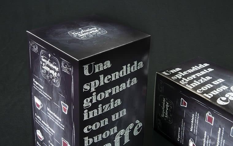 scatole per cialde caffe