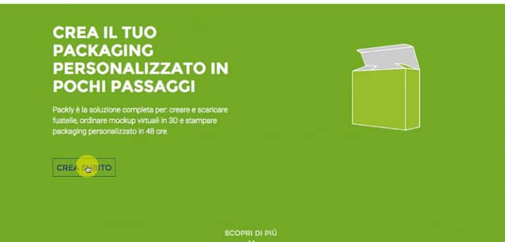 stampa il tuo Packaging online con Packly