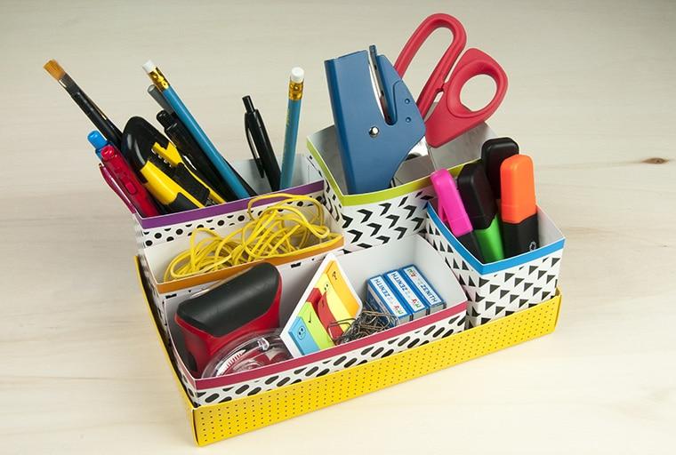 paperboard desk organizer