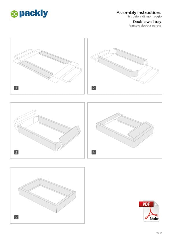 A4 assembly instructions double wall tray