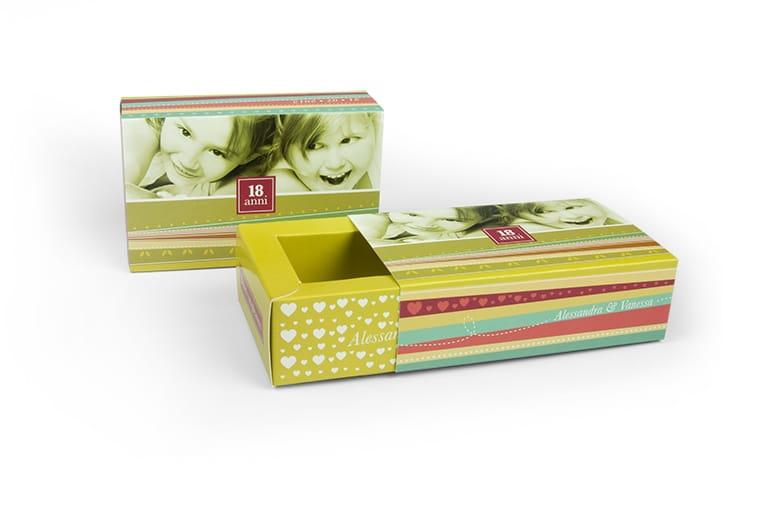 scatola a fiammifero doppia parete per compleanno