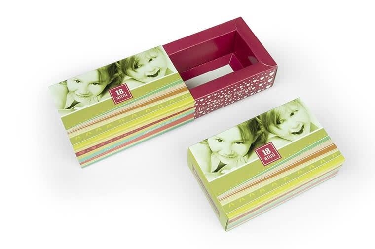 scatola a fiammifero personalizzata
