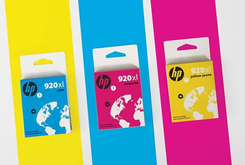 scatole per cartucce stampante HP