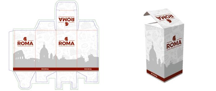 progettazione grafica del packaging coda di rondine