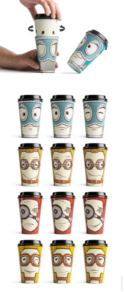 Smiley Paper Cups