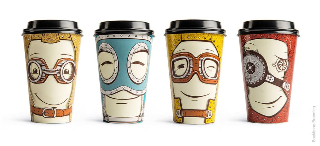 Interactive and Quirky Paper Cups