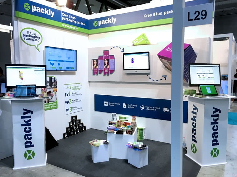 Packly at Viscom - booth