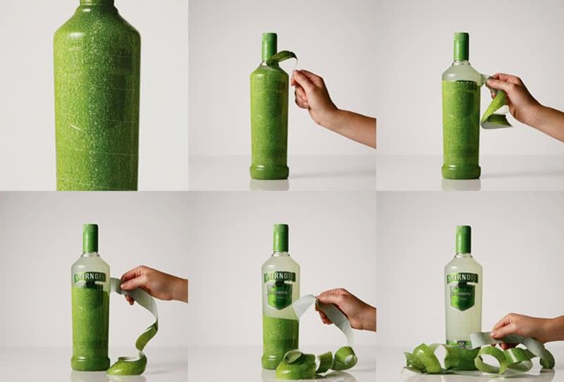 Quirky Smirnoff Vodka Packaging