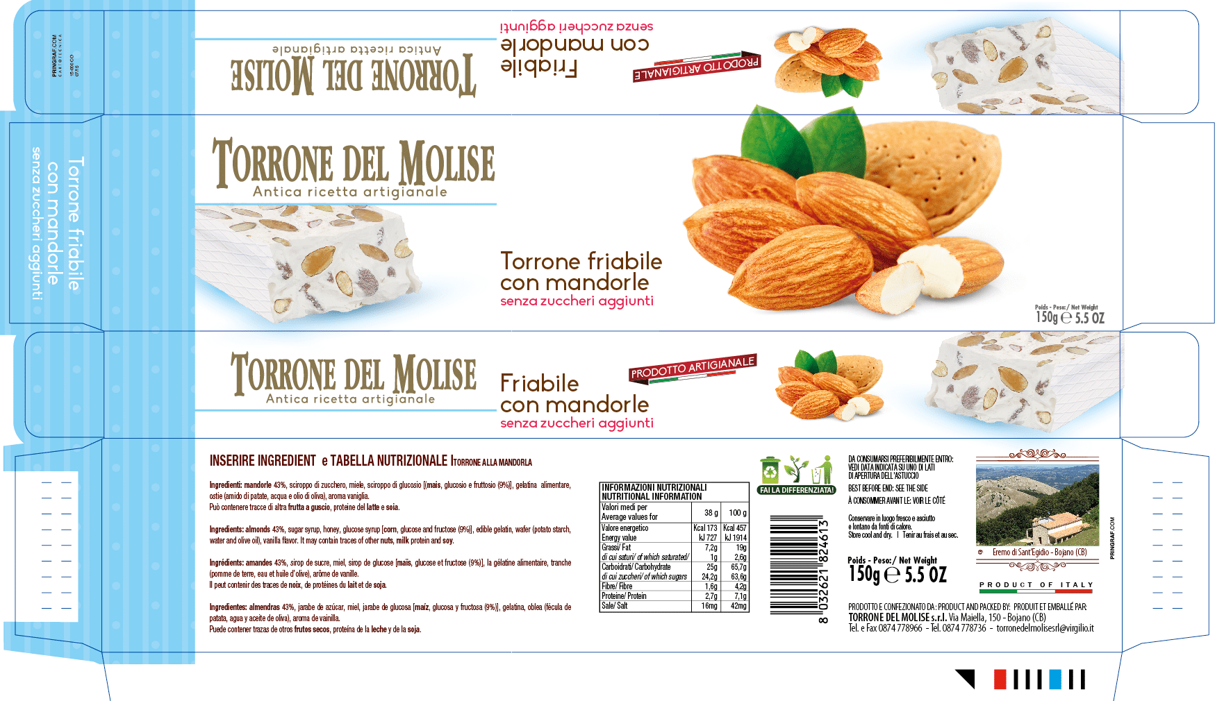 packaging torrone