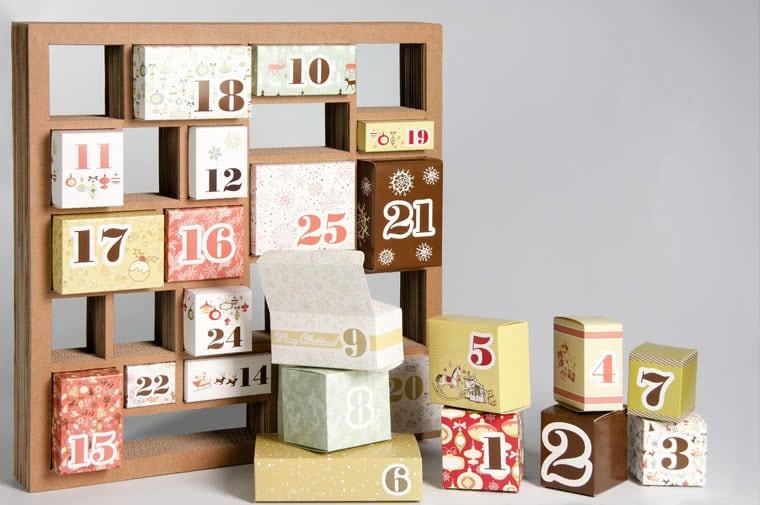 scatole di Natale calendario Avvento
