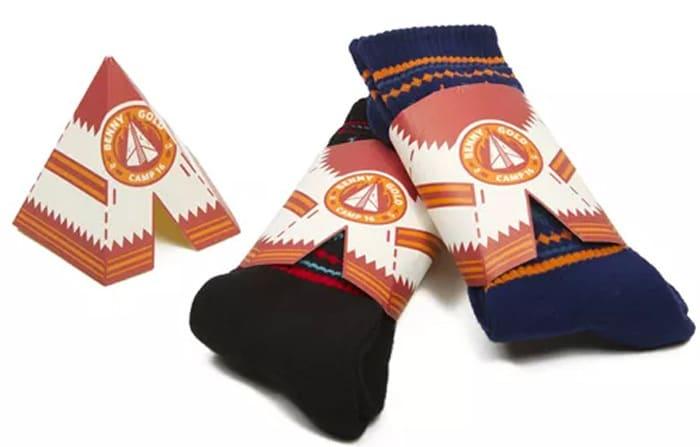 Repurposable sock packaging