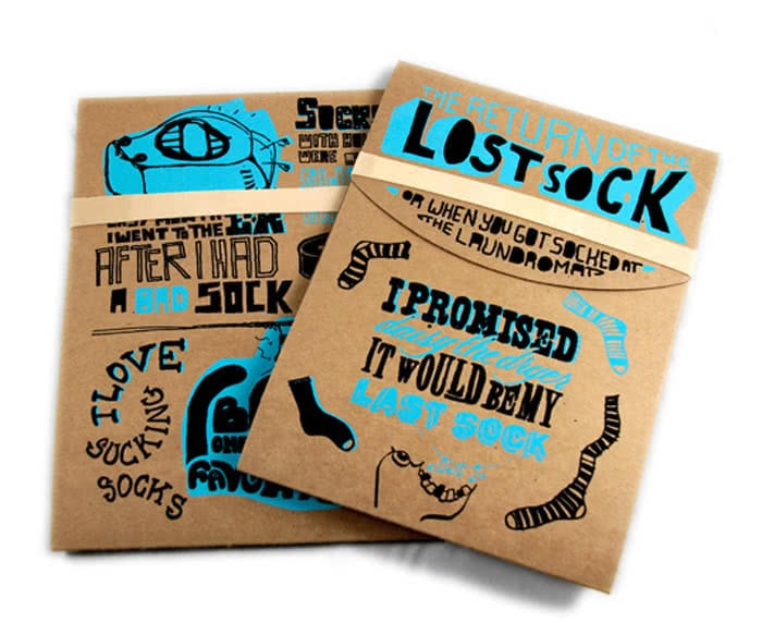 The Lost Sock packaging