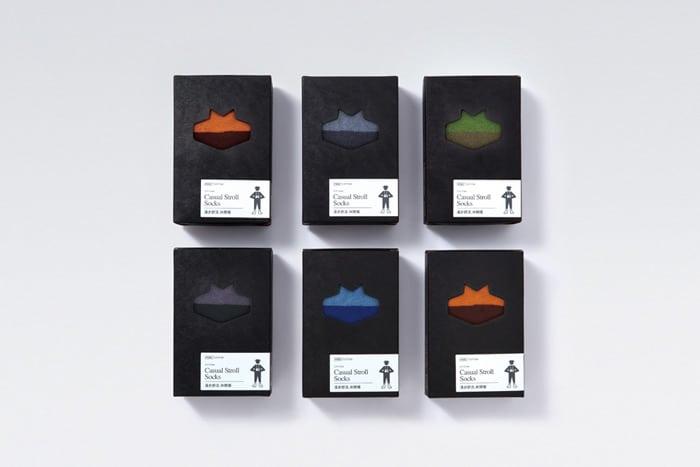 Packaging design for socks