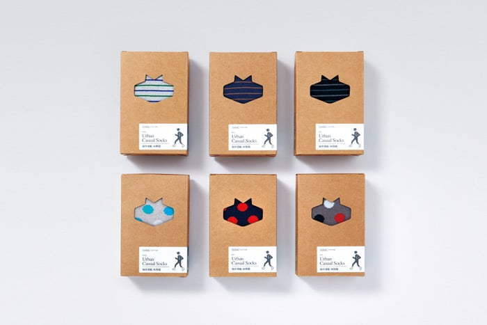 Sock packaging with windows