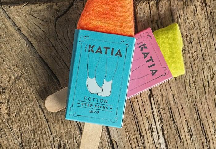 Katia socks on a stick
