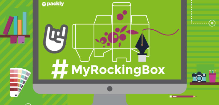 #MyRockingBox Packly contest graphic design