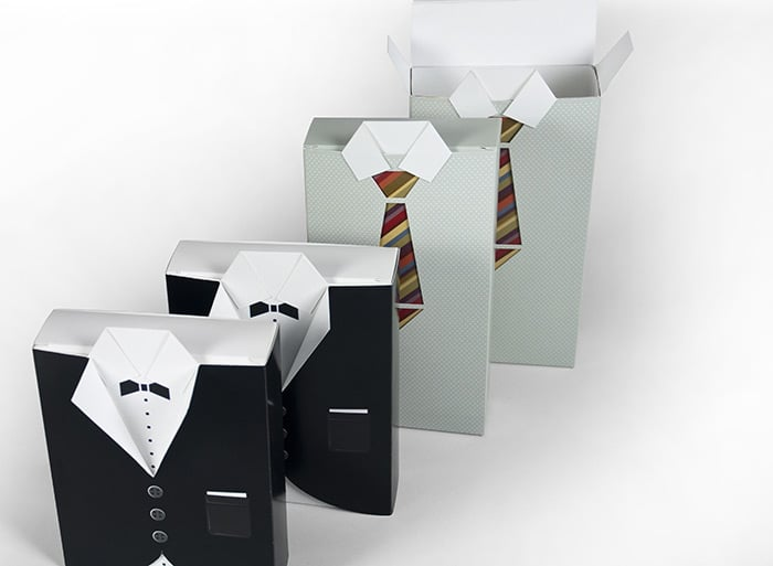 best packaging design ties and shirts boxes