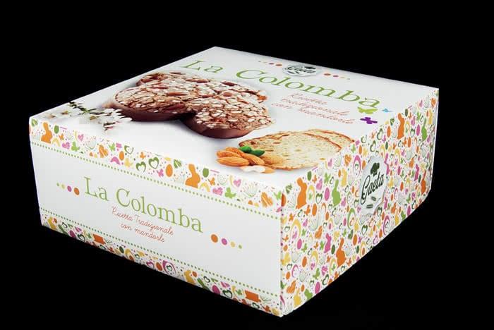 scatole personalizzate per colombe di Pasqua
