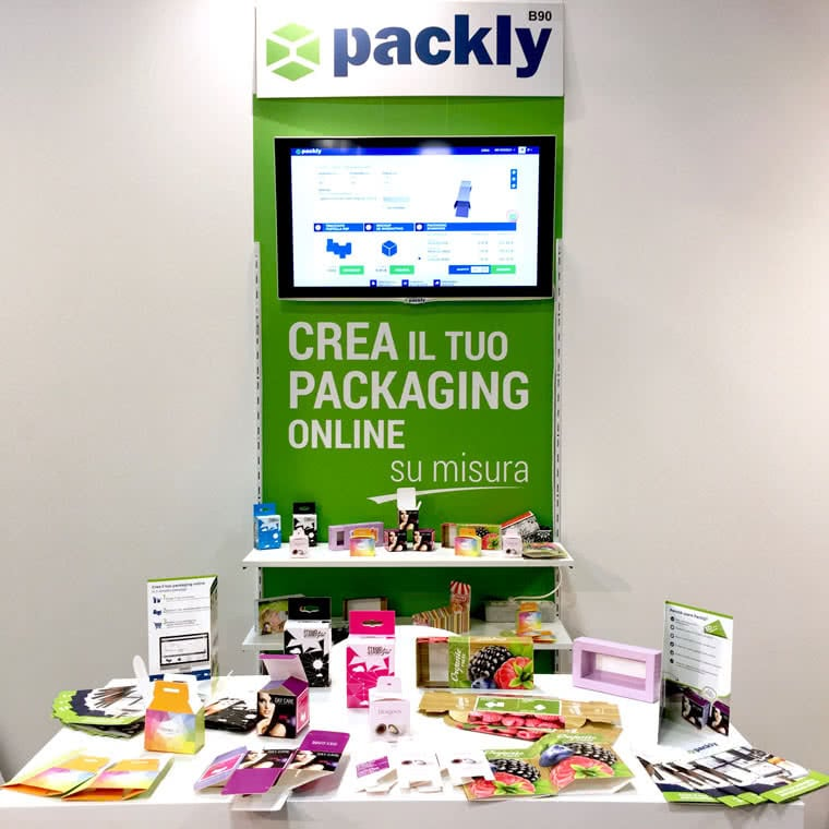 Packly packaging personalizzato promotion expo