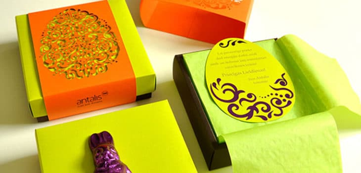 carved creative easter packaging
