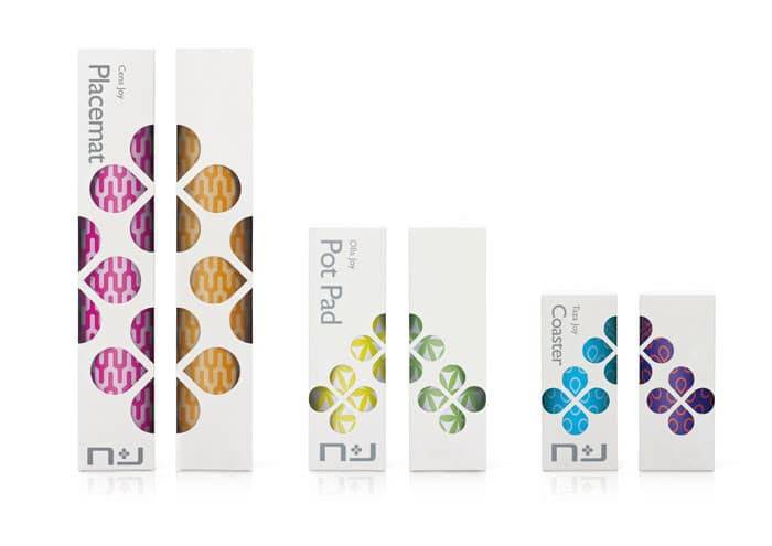 colorful silicon placemats packaging design