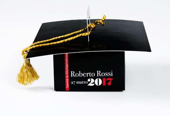 graduation comfit favor packaging