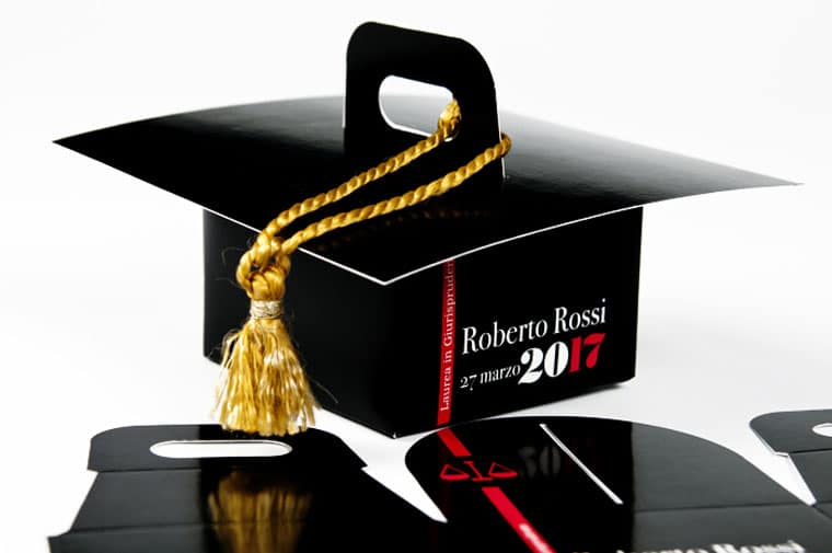 orginal ideas for comfit and favor boxes graduation