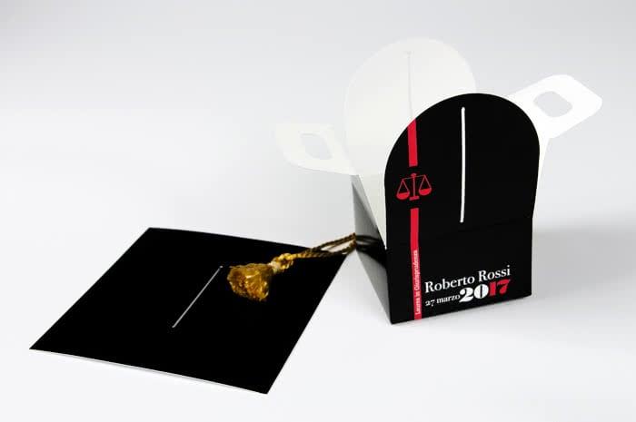 packaging personalizzato per bomboniere laurea