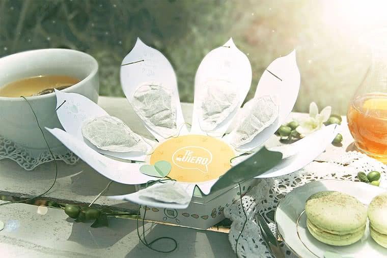 scatole di tè design creativo