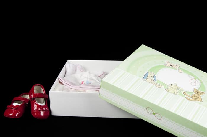 scatola regalo neonato