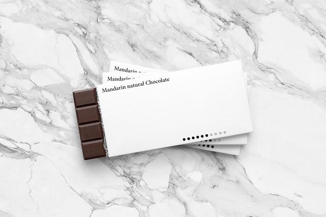 minimal chocolate bar packaging