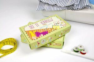 Kit da cucito: scatole per il fai da te