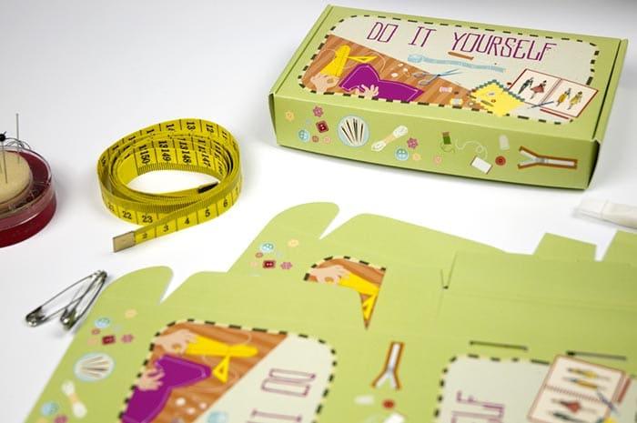 sewing kit packaging