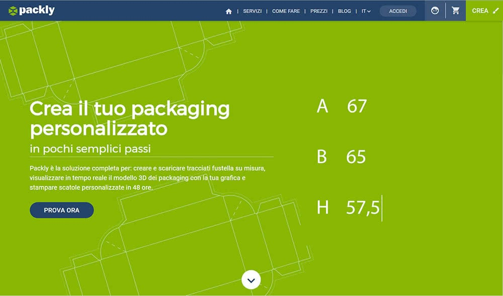Home-page Packly 2.0