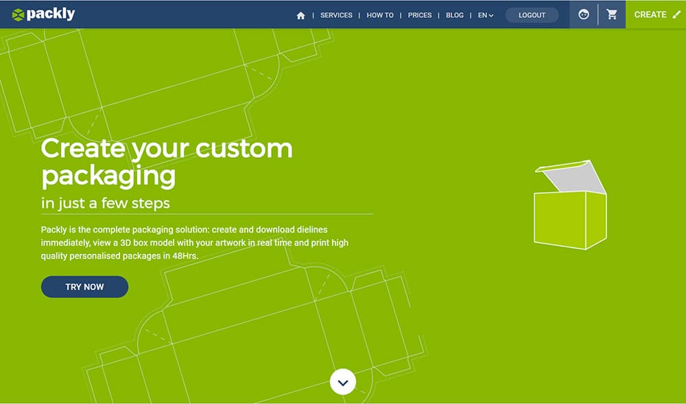 Homepage-Packly 2.0