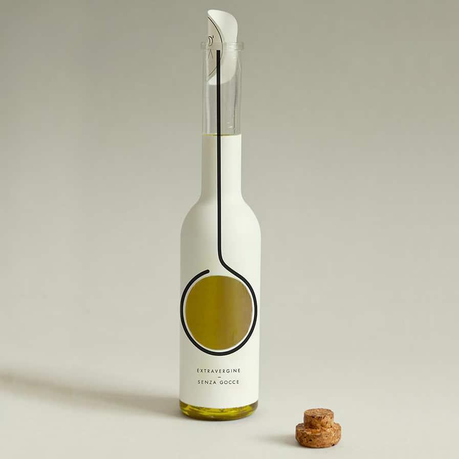 olive oil bottle labelling